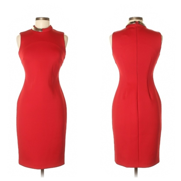 Calvin Klein Dresses & Skirts - NWT Calvin Klein Scarlet Sheath Dress
